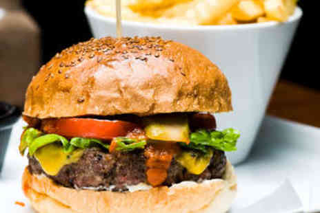 The Crown Inn - Burger with Fries, Drink Plus Sides for Family of 4 - Save 0%