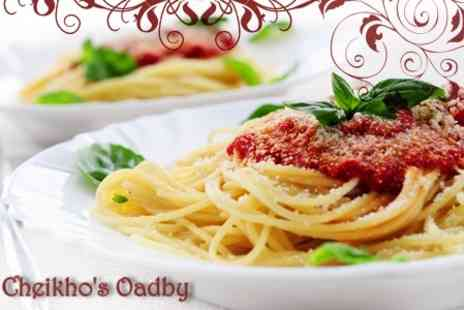 Cheikhos - Two Course Italian Dinner For Two With Liqueur and Coffee - Save 63%