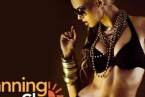 The Tanning Shop - Two Sessions of California Spray Tanning With Glass of Bubbly - Save 70%