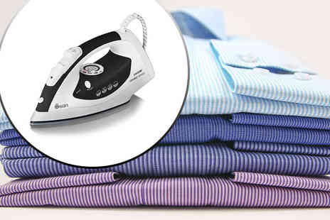 Swan Products - 2400w ceramic-plated steam iron choose from two colours - Save 63%
