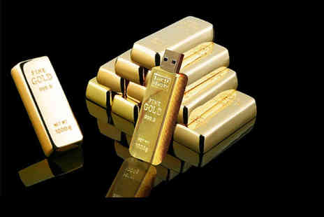 E Smartshop - A 64GB gold bar USB flash drive, a 128GB gold bar USB flash drive - Save 80%