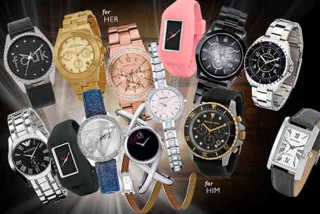 Wowcher Direct - A mystery watch for him or her  Marc Jacobs, Calvin Klein, Police, Swiss Military, FCUK, Guess, Jacques du Manoir, Montine, Michael Kors and more - Save 0%