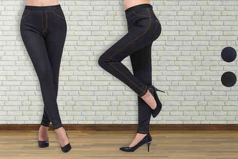 Gagala - Denim Jeggings with Soft Faux Fur Lining in 2 Colours - Save 0%