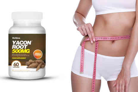 Healthy2U -  60 or 120 Yacon Root 500mg Capsules  - Save 68%