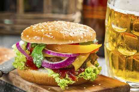 The Grapes - Burger and Chips with Wine or Beer for Two or Four - Save 0%