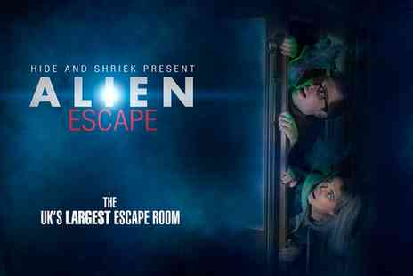 Cowscorge - One, Two or Four Tickets to Alien Escape Room with Hide and Shriek - Save 0%