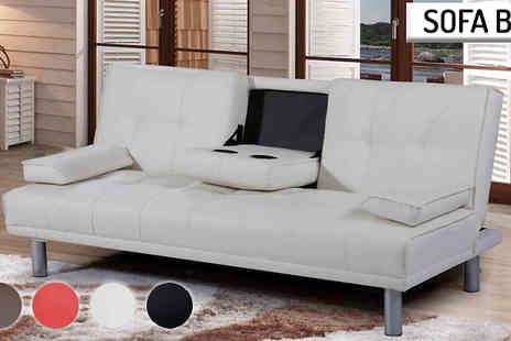 AP Furnitures - Faux Leather Cinema Sofa Bed or Chaise Lounge - Save 59%