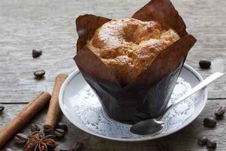 Muffin Break - Choice of Any Small Hot Drink and Any Muffin or Slice of the Day For One or Two - Save 44%