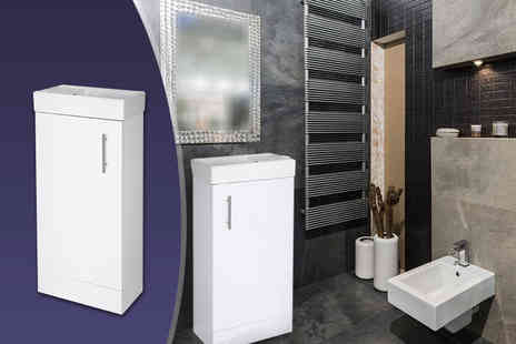 Jacob Dylan - Minimalist bathroom basin and cabinet unit Plus Delivery is Included - Save 50%