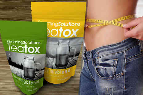 Slimming Solutions - 14 day supply of Teatox or 28 day supply - Save 60%