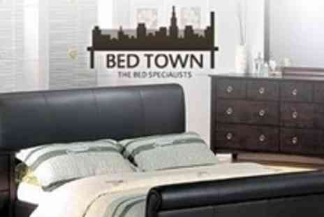 Bed Town - Double Size Bed Frame With Head and Footboards - Save 55%