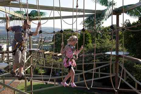 Golf Attractions - High Rope Course with Optional Jurassic Golf for Four People or a Family - Save 58%