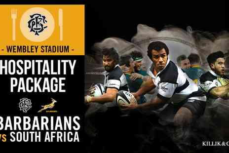 Barbarians - VIP package to Barbarians v South Africa Rugby Match Plus Three Course Lunch  - Save 0%
