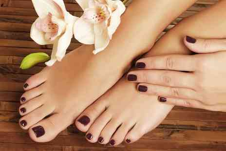 Martinis Pamper Parlour - Shellac Polish on Fingers or Toes or Both - Save 33%