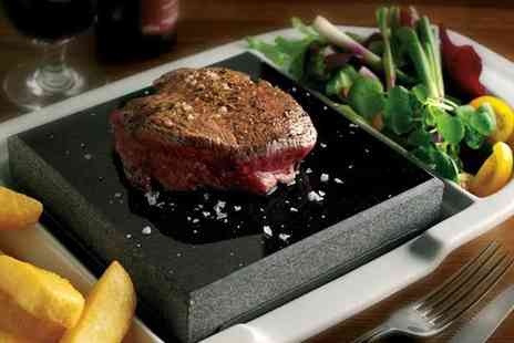 The White Lion Hotel - Hot Rock 8oz Sirloin Steak for Two or Four - Save 50%