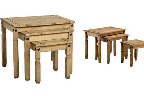 Capital Outdoors - Nest of 3 Pine Tables - Save 0%