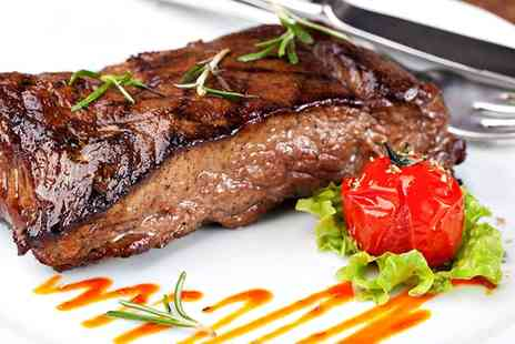 The County Hotel - Sirloin Steak Meal with a Glass of Wine for Two or Four - Save 0%