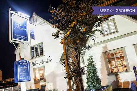 The Blue Anchor - Two Course Meal with Wine or Bellini Cocktail for Two or Four - Save 58%