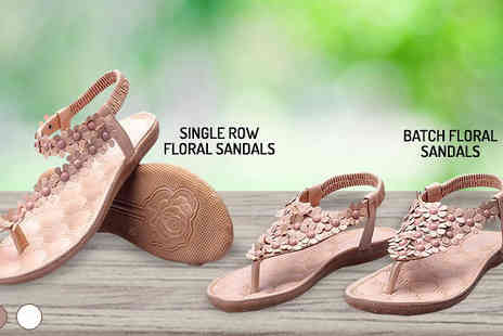 Gagala - Floral Gladiator Sandals in 4 Styles - Save 0%