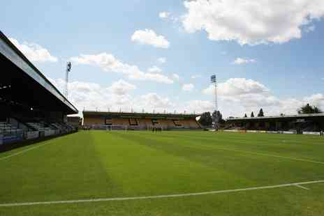Cambridge United FC - League Two Cambridge v Morecambe Two Tickets on 19 April - Save 40%
