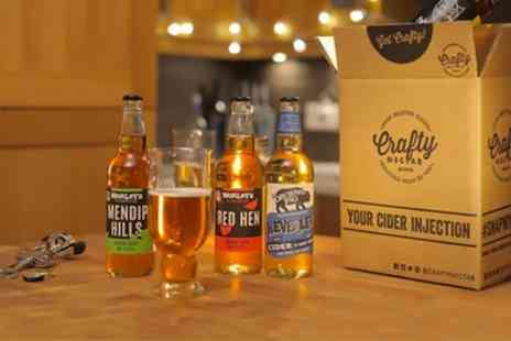 Crafty Nectar - One or Three Months Subscription of Six or Twelve Craft Cider Bottles - Save 40%