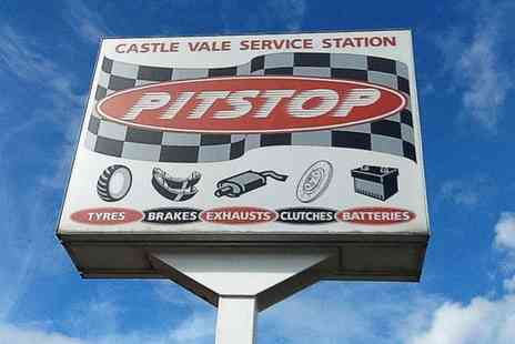 Pitstop Castle Vale Service Station - Car A/C Service with Re Gas or Summer Check and MOT - Save 51%