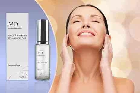 Look Good Feel Fabulous - 30ml bottle of MD3 Vitamin C anti ageing serum - Save 83%