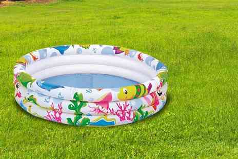 Funky Buys - A medium sized kids  paddling pool and a large paddling pool - Save 74%