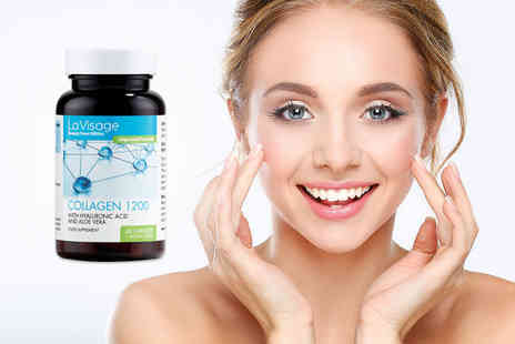 Direct Beauty Products - One month supply of Collagen 1200 supplements with hyaluronic acid and aloe vera - Save 62%