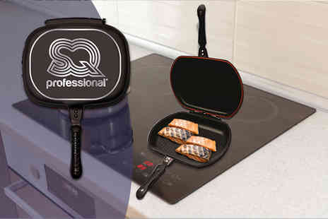 SQ Professional - A Nea die cast double-sided magic pan choose from two colours - Save 61%