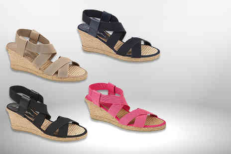 MY UL - A pair of stylish summer wedges choose black, navy, pink or beige - Save 63%