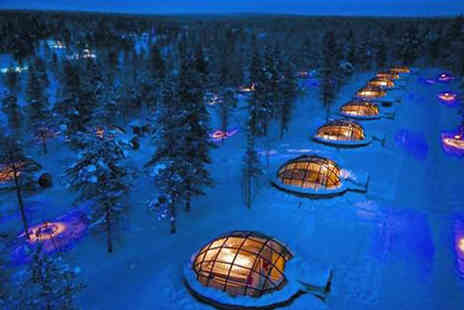 Jetline Travel - Two or Three night Finland break including Snow Hotel and glass igloo stays and flights - Save 41%