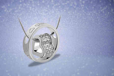 Van Amstel Diamond BV - Heart in ring pendant made with Swarovski Elements - Save 84%