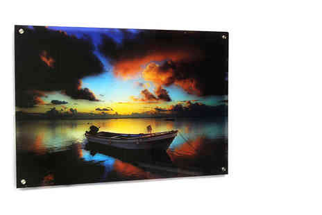Your Perfect Canvas - Personalised acrylic glass canvas in a range of sizes - Save 80%