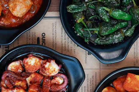 Mas Q Menos - Tapas dinner for two people including four dishes, artisan bread and jug of Sangria - Save 42%