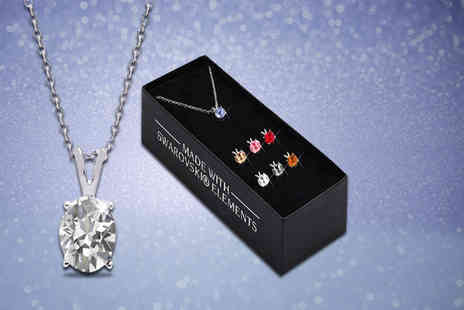 The Gemseller - Necklace with seven interchangeable Swarovski crystal pendants - Save 90%