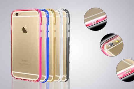 Tech Tronics  - LED Light Up Case for iPhone 5, 5S, 6 or 6 Plus in 6 Colours - Save 73%
