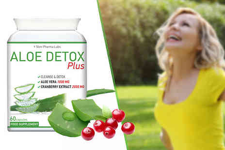 Slim Pharma Labs - 1 Months Supply of Aloe Detox Plus 60 Capsules - Save 73%