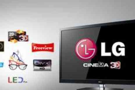 "PRC Direct - LG 55"" Full HD LED Cinema 3D TV and seven pairs of 3D glasses - Save 44%"