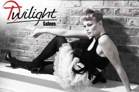 Twilight Salon - Makeover and Photoshoot With Glass of Bubbly and One Image for £9  - Save 64%