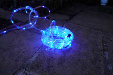 Advanced Polymer - Waterproof, solar powered LED garden rope light - Save 88%
