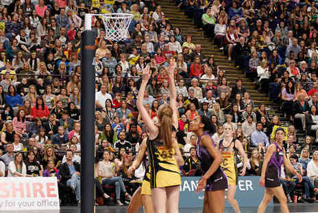 Manchester Arena - Gold level netball ticket to see Manchester Thunder vs Yorkshire Jets on 18th April - Save 53%