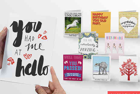 Choosey - Years supply of personalised A5 greetings cards - Save 88%