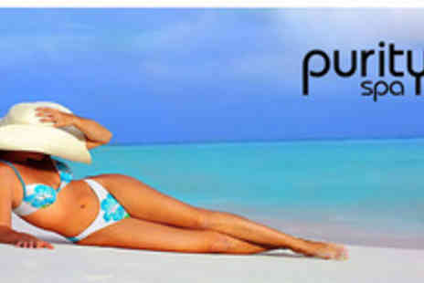 Purity Spa - Full Body Spray Tan Plus Mini Consultation and a Glass of Bubbly - Save 73%