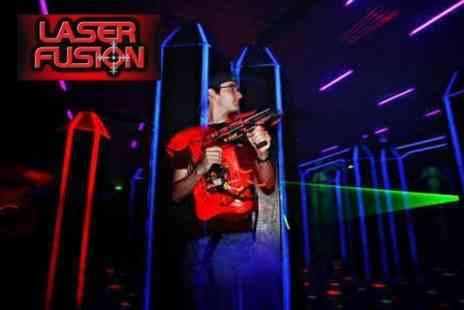 Laser Fusion - Three Games of Laser Tag For Two With Soft Drink Each for £9 - Save 68%