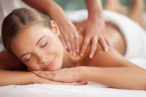 Glamour - Back, Neck and Shoulder Massage or Facial with Optional Nail and File Polish  - Save 41%