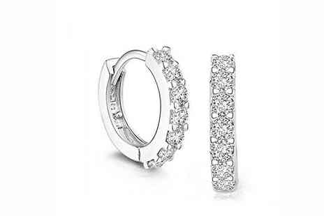 Elle and Be - One or Two Pairs of Swarovski Elements Hoop Earrings - Save 79%