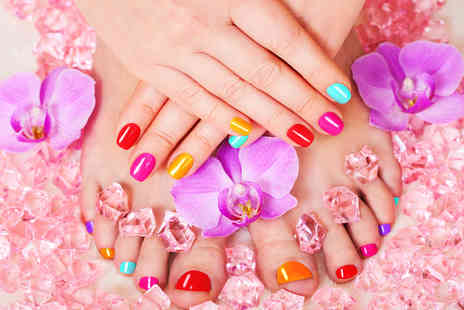 Ezina - Gelish manicure or include a pedicure - Save 68%