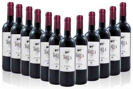 Monte regio - 12 Bottles of Spanish Rioja Crianza Red Wine With Free Delivery - Save 56%