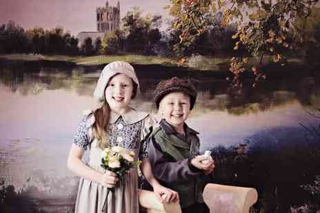 Studio O & A - Kids Victorian Themed Photoshoot with Prints and Key Ring or Jigsaw Image - Save 85%